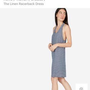 Everlane the linen racerback dress size L